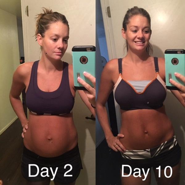 Cô ấy lại vóc  dáng giảm cân sau sinh chỉ 10 ngày