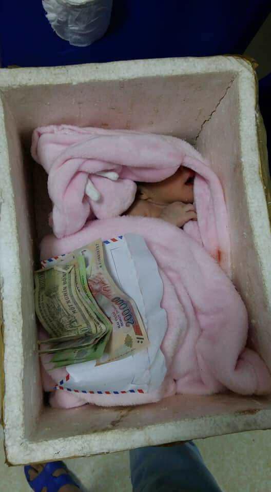 Bé sơ sinh bị bỏ rơi trong thùng xốp, cộng đồng kêu gọi giúp đỡ