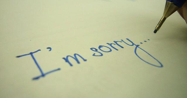 mơ xin lỗi