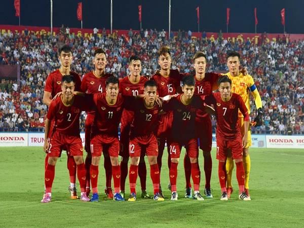 Nguyễn Tiến Linh trong màu áo đội tuyển U23 Việt Nam.