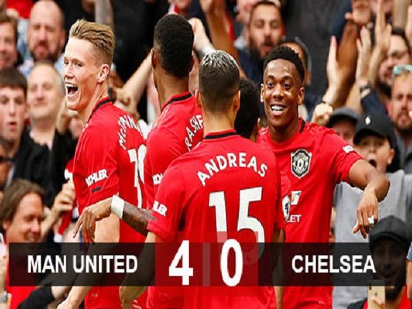 M.U 4-0 Chelsea: M.U bóp nát Chelsea ở Old Trafford