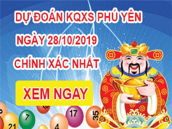Dự đoán kết quả xổ số Phú Yên ngày 28/10 chuẩn xác