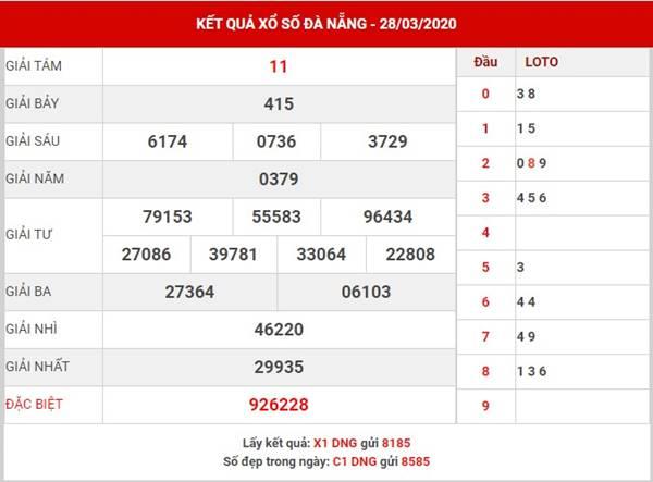 Thống kê SX Đà Nẵng thứ 7 ngày 25-4-2020