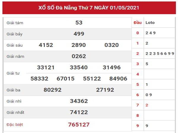 Thống kê KQXSDNG ngày 5/5/2021 dựa trên kết quả kì trước